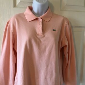 Lacoste girls 3/4 sleeve pink t-shirt